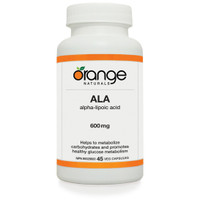 Orange Naturals Alpha Lipoic Acid (ALA), 60 Tablets | NutriFarm.ca