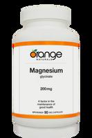 Orange Naturals Magnesium Glycinate, 90 Vegetable Capsule   NutriFarm.ca