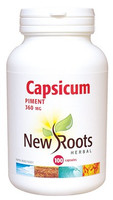 New Roots Capsicum 360 mg, 100 Capsules | NutriFarm.ca