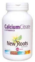 New Roots Calcium Citrate & Vitamin D, 150 Capsules | NutriFarm.ca