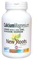 New Roots Calcium Magnesium Citrate, 180 Capsules | NutriFarm.ca