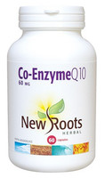 New Roots Co-Enzyme Q10 60 mg, 60 Capsules   NutriFarm.ca