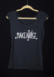 Ladies' Make Noise Logo T Black & Bleach