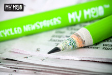 My Mojo A1 Poster - Recycled Newspaper Pencil