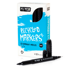 My Mojo Recycled Twin Tip Permanent Markers – Box of 12