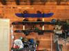 home wall storage rack garage snowboard