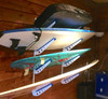 4 surfboard wall storage rack for home