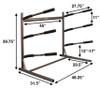 freestanding surfboard floor rack dimensions