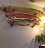 beautiful surfboard wall rack