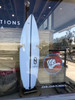 wood rack for surfboard display at shop