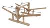 log kayak rack dimensions
