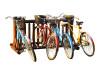 freestanding wood bike rack