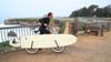 bike rack for longboard surfboard