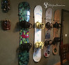 snowboard wall mount four snowboards