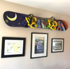 snowboard wall rack for displaying art