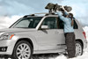 Snowboard roof rack carriers two snowboards