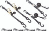 """1"""" wide ratchet tie down straps and cam buckle kit"""