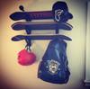 skateboard wall rack with storage