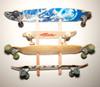 skateboard rack with slots