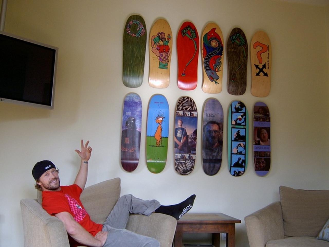 skateboards turned into art