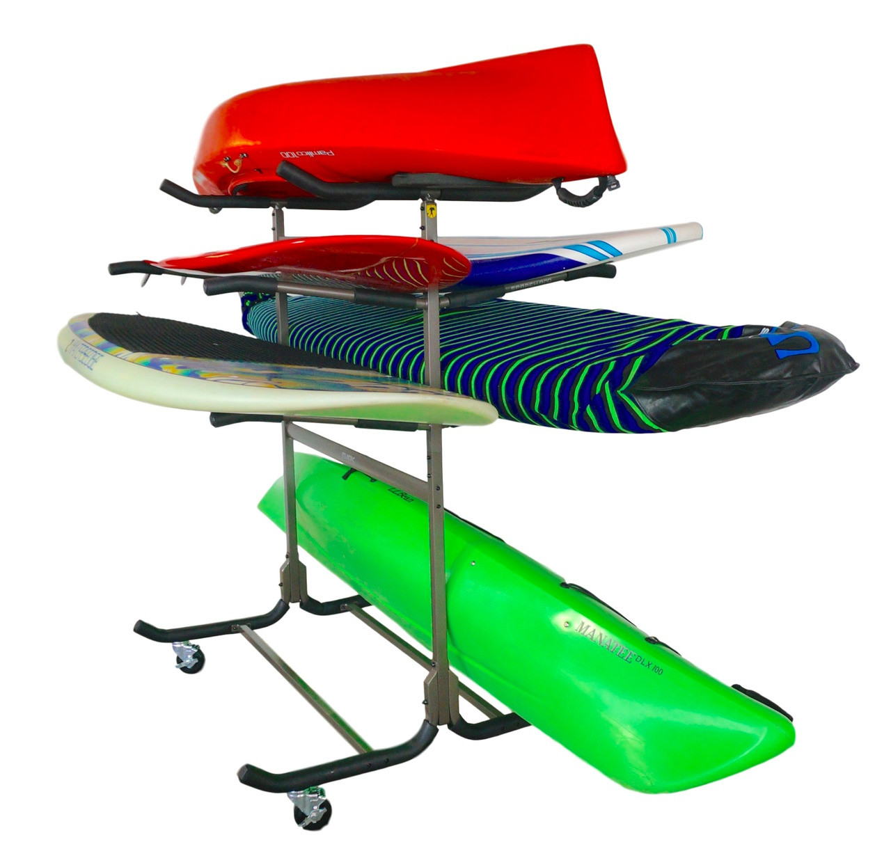 kayak and sup storage rack with wheels