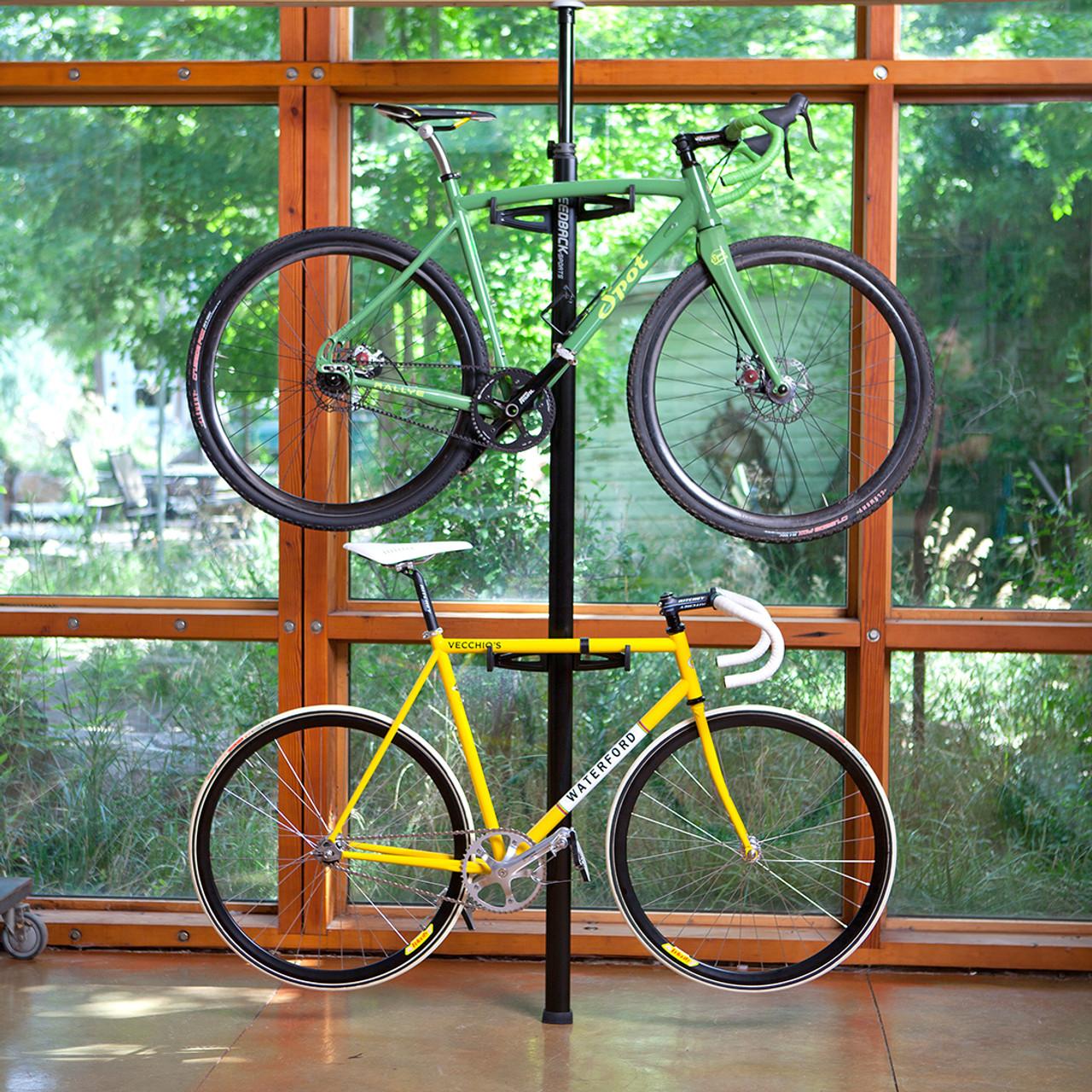 spring loaded freestanding bike rack
