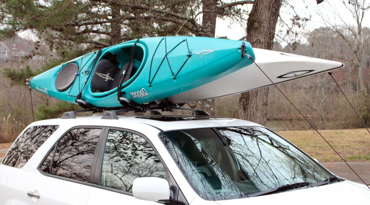 2 Kayak Car Roof Rack Folds Flat Storeyourboard Com