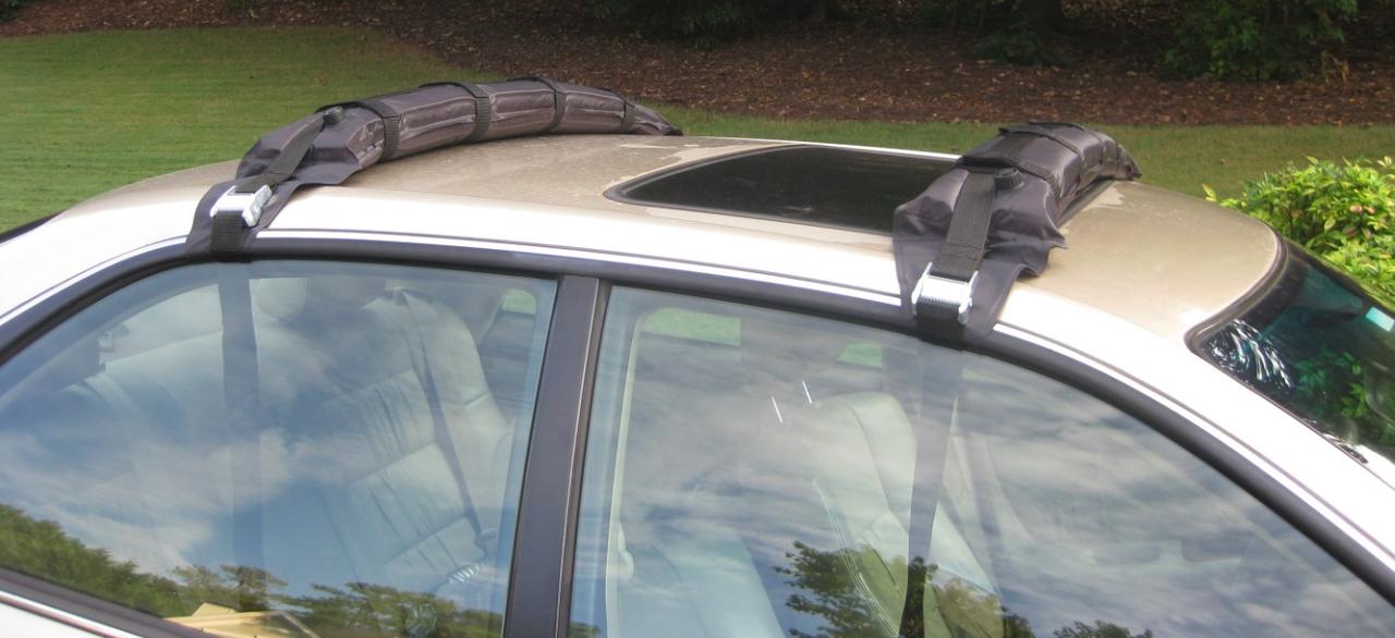 self inflating roof rack sedan and suv