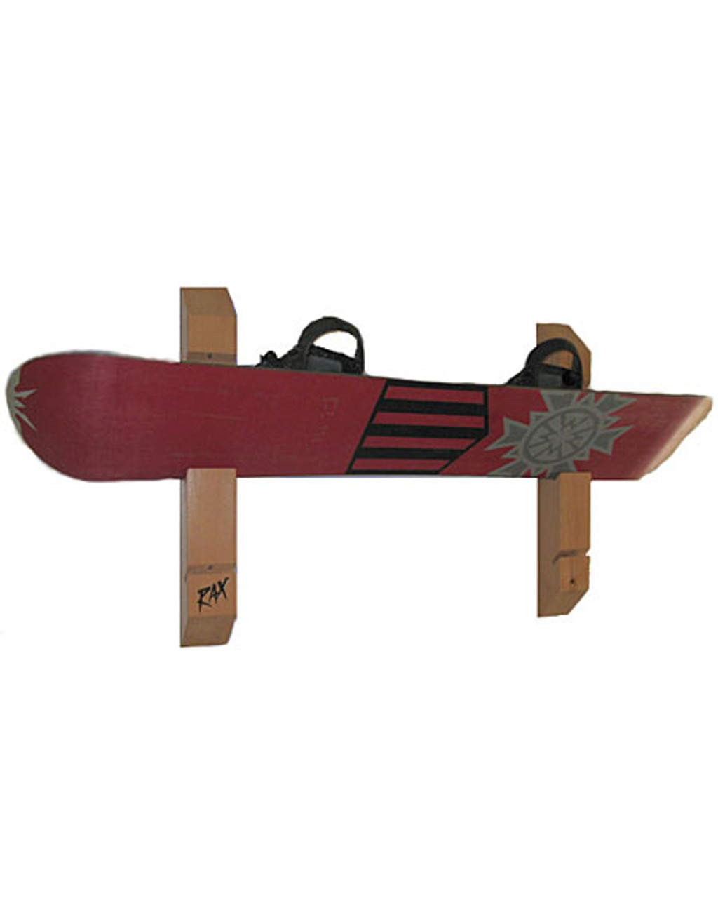 cedar snowboard display rack