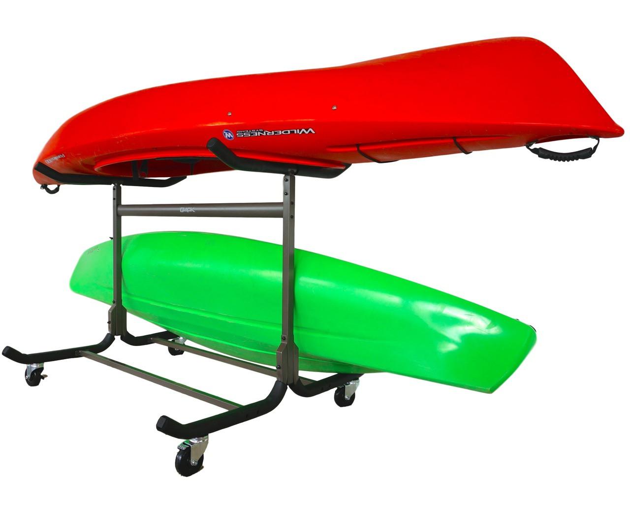 3 kayak floor rack with wheels