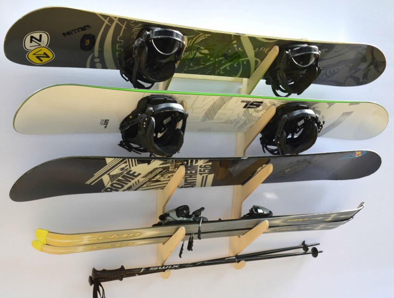 multi ski and snowboard wall hanger
