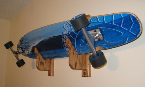 hand crafted skateboard rack