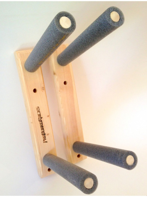 wood wall mount wakesurf board racks