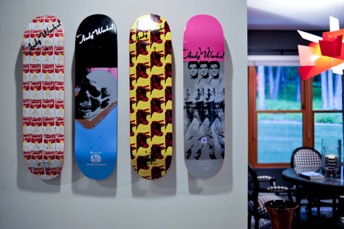 skateboard art display