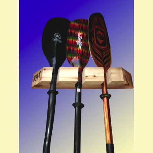 red cedar vertical paddle wall rack