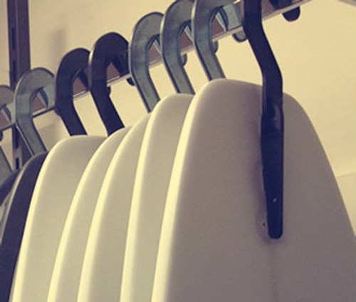 surfboard storage and display hanger