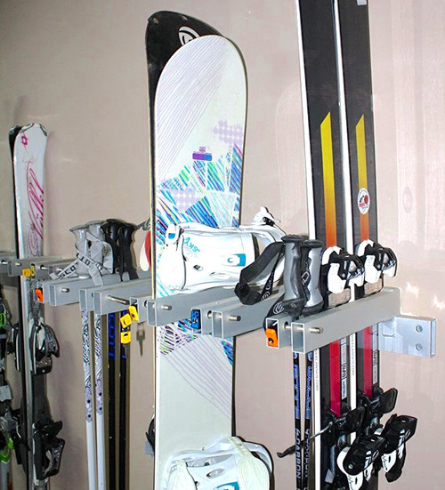 locking ski and snowboard storage rack