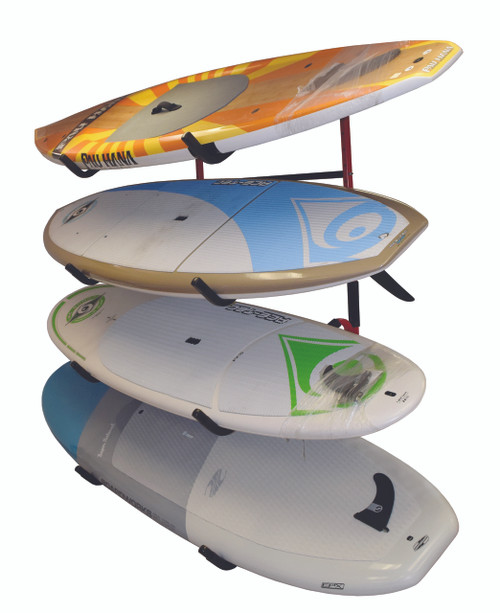 Quad SUP Display Rack   Fits 4 Paddleboards on Angled Arms