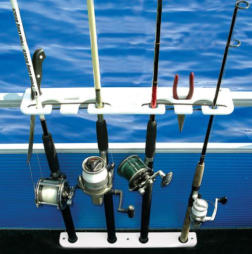 pontoon boat fishing rack