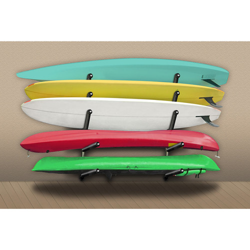 wall rack for kayaks and paddleboards