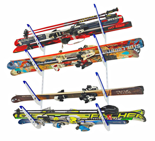 horizontal ski storage rack adjustable