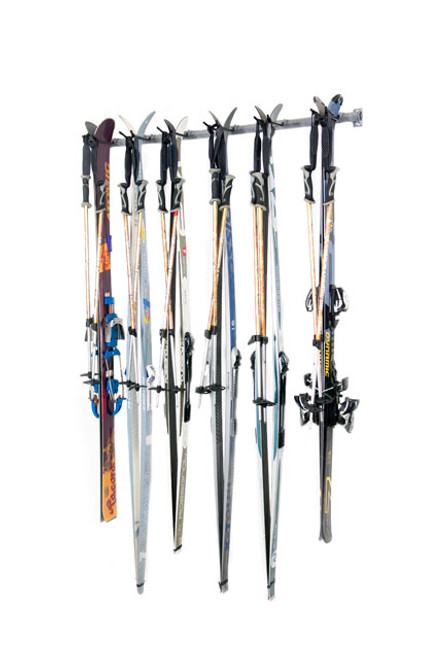 cross country ski storage rack 6 pairs