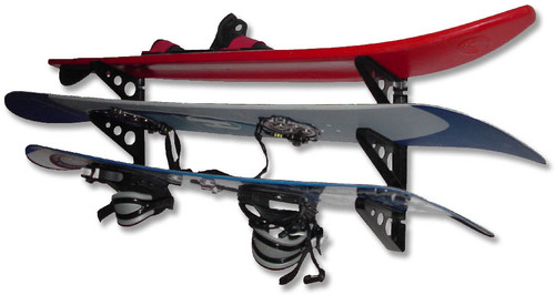 triple multi sport wall storage rack