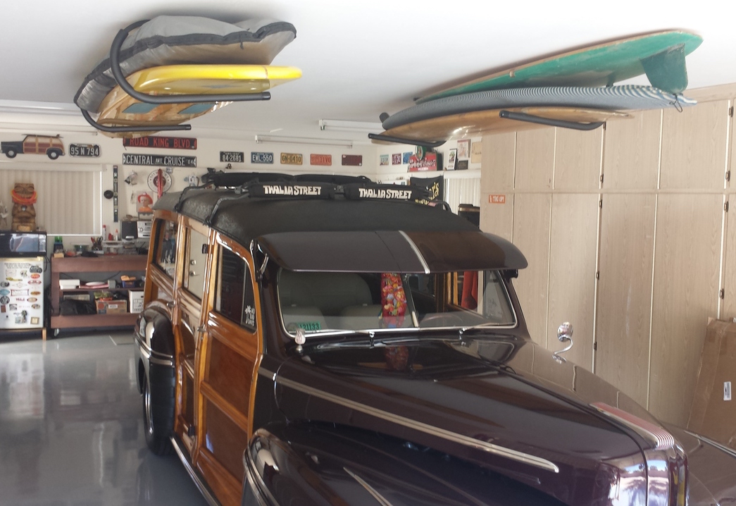 Awesome Surfboard Garage Ceiling Storage For Longboards