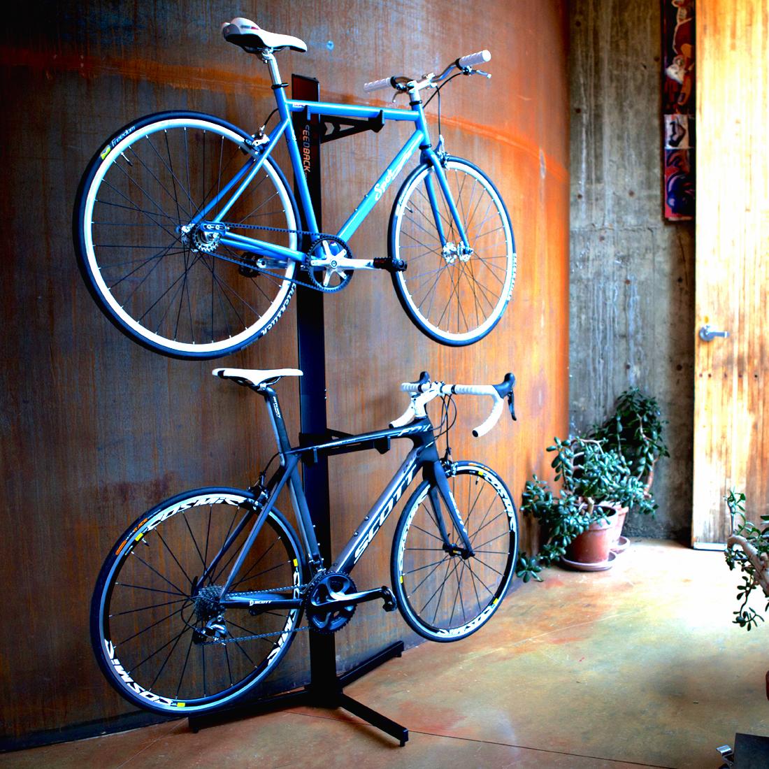 Two Bike Freestanding Storage Rack