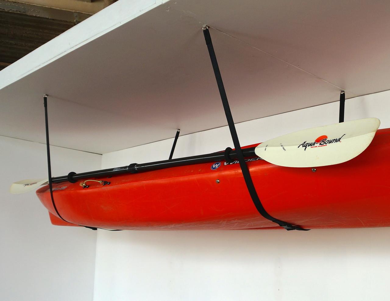 Kayak Wall Hanger >> Ceiling Kayak Storage | Adjustable Hi-Line ...