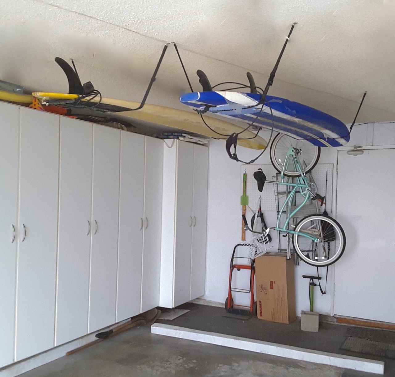 Garage Ceiling Surfboard Strap Rack