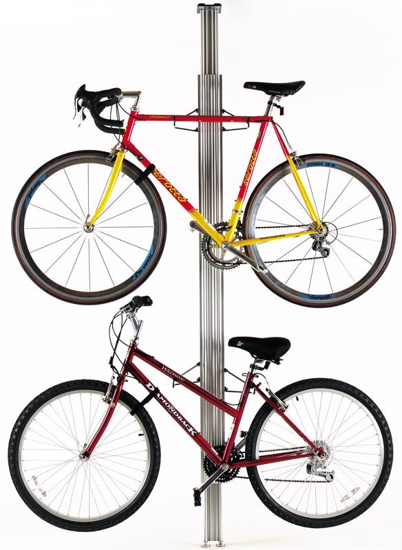 silver bike rack