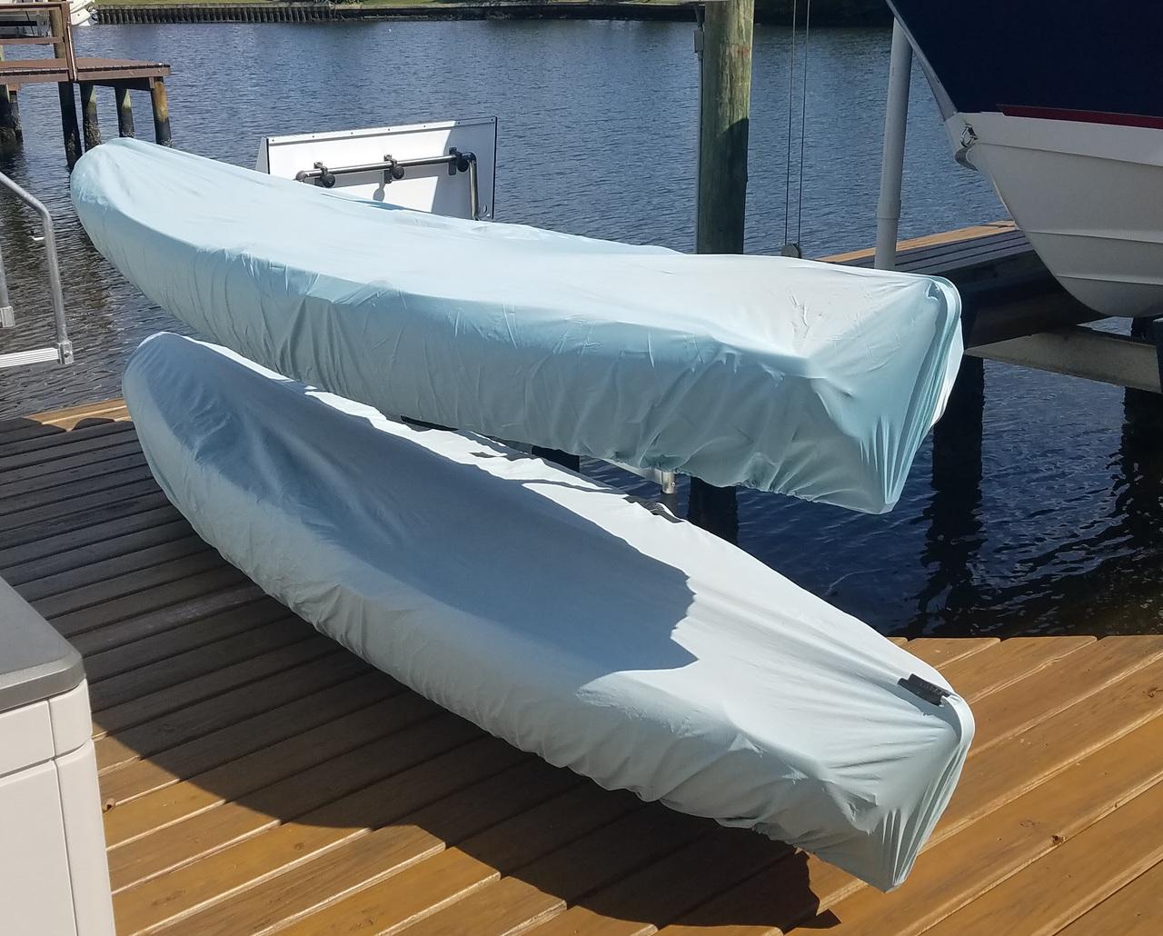 Stainless Steel 2 Kayak Storage | Outdoor Dock Freestanding Rack