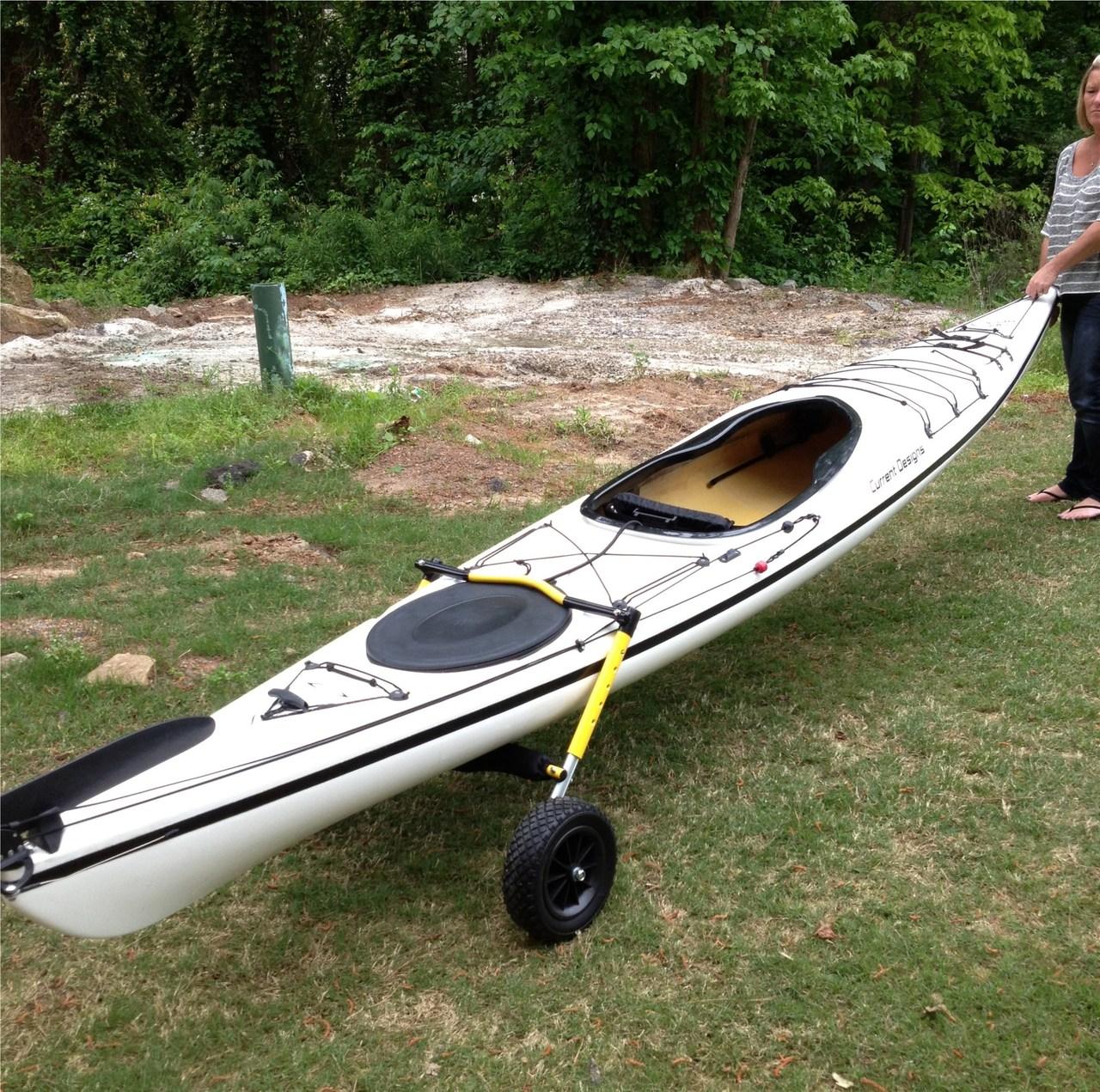 Stern Mount Kayak Dolly Suspenz Boat Carrier